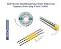 SCK-4 Solder Sucker Desoldering Pump/Solder Wick/Solder Dispenser/Solder Easy 4 Piece COMBO