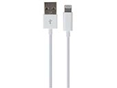 VELLEMAN PCMP65 USB A MALE TO LIGHTNING 8-PIN MALE CABLE - WHITE - 1 m
