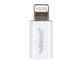 VELLEMAN PCMP63 iPHONE 5 ADAPTER - MICRO USB FEMALE to LIGHTNING 8-PIN MALE - WHITE