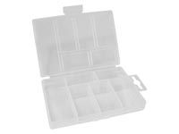 "VELLEMAN OCBR2 PLASTIC STORAGE BOX (3.35"" x 5.31"" x 0.98"") - 6 COMPARTMENTS"